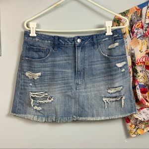 Abercrombie & Fitch distressed denim jean skirt 10